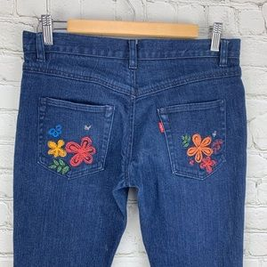 Levi's Andy Warhol floral embroidered skinny jean